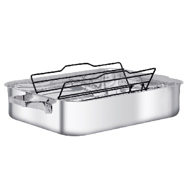 "Henckels TruClad 16"" Roaster with Adjustable Nonstick Rack"