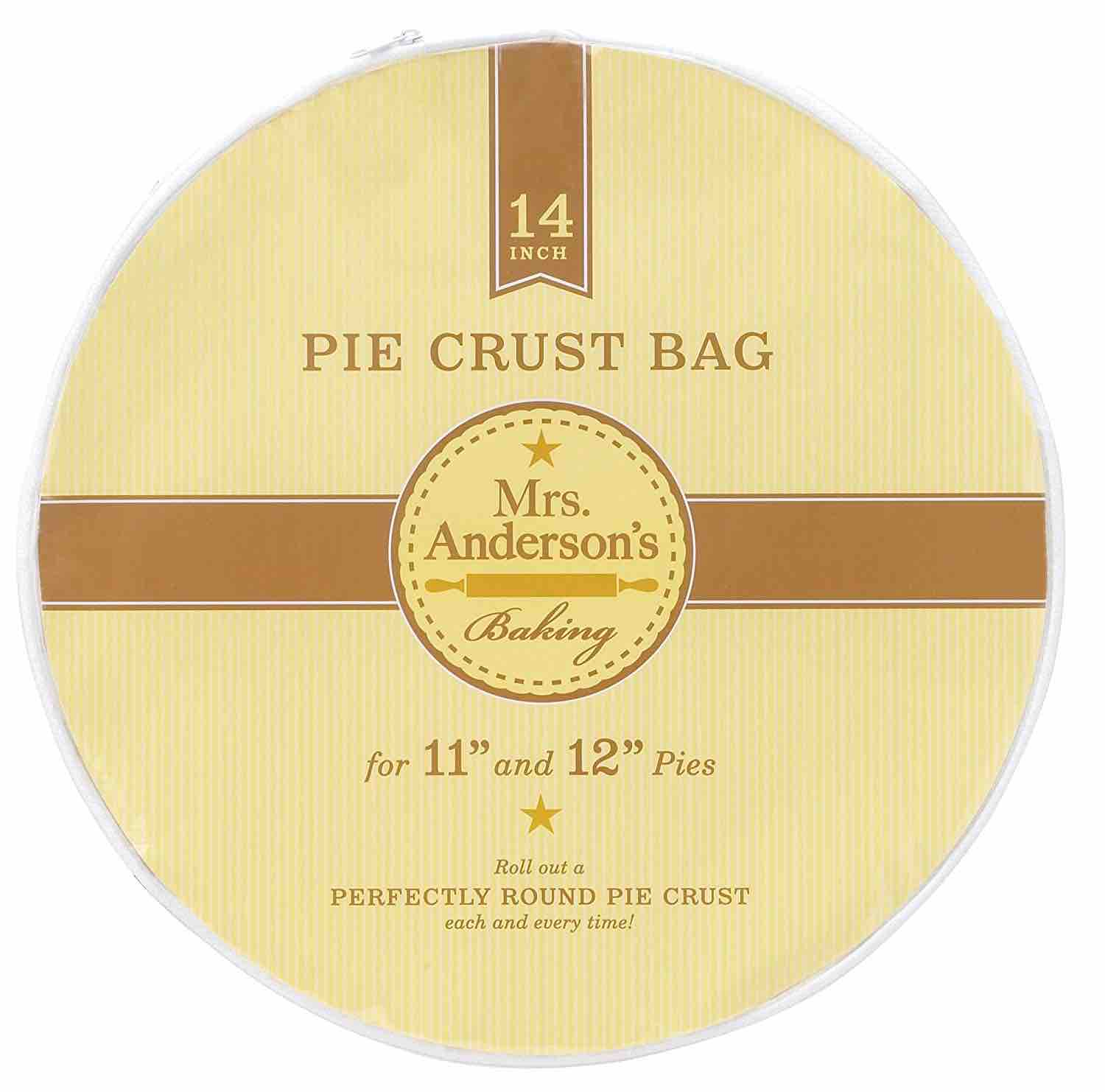 "Mrs. Anderson\'s Easy No-Mess 14"" Pie Crust Maker Bag"