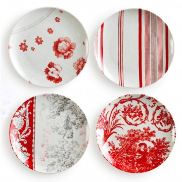 French Linens Coupe Salad Plates | Set of 4 by Rosanna