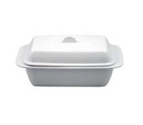 Melamine Butter Dish for 1lb | White