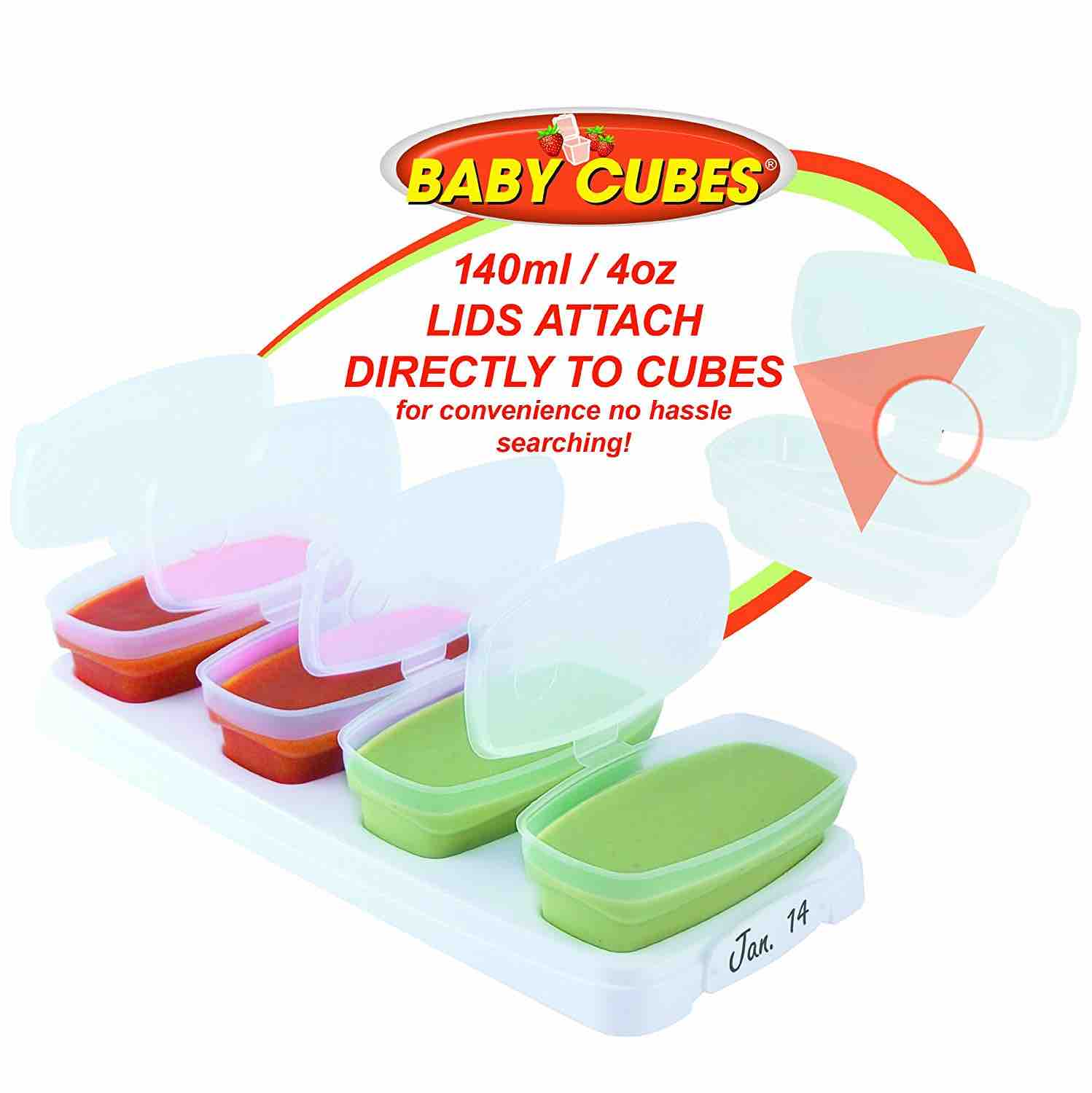 Baby Cubes 4oz | Set of 4