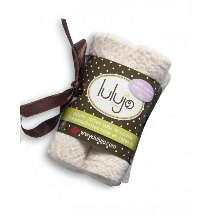 Lulujo Organic Cotton Facecloths - 4pk