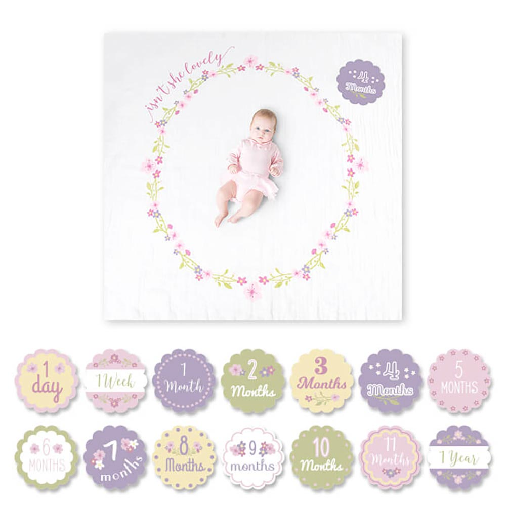 Lulujo Baby's 1st Year Blanket & Cards | Isn't She Lovely