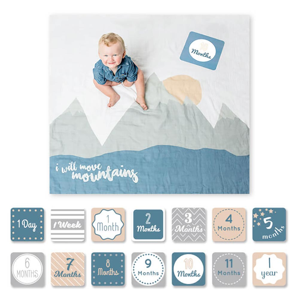 Lulujo Baby's 1st Year Blanket & Cards | Move Mountains