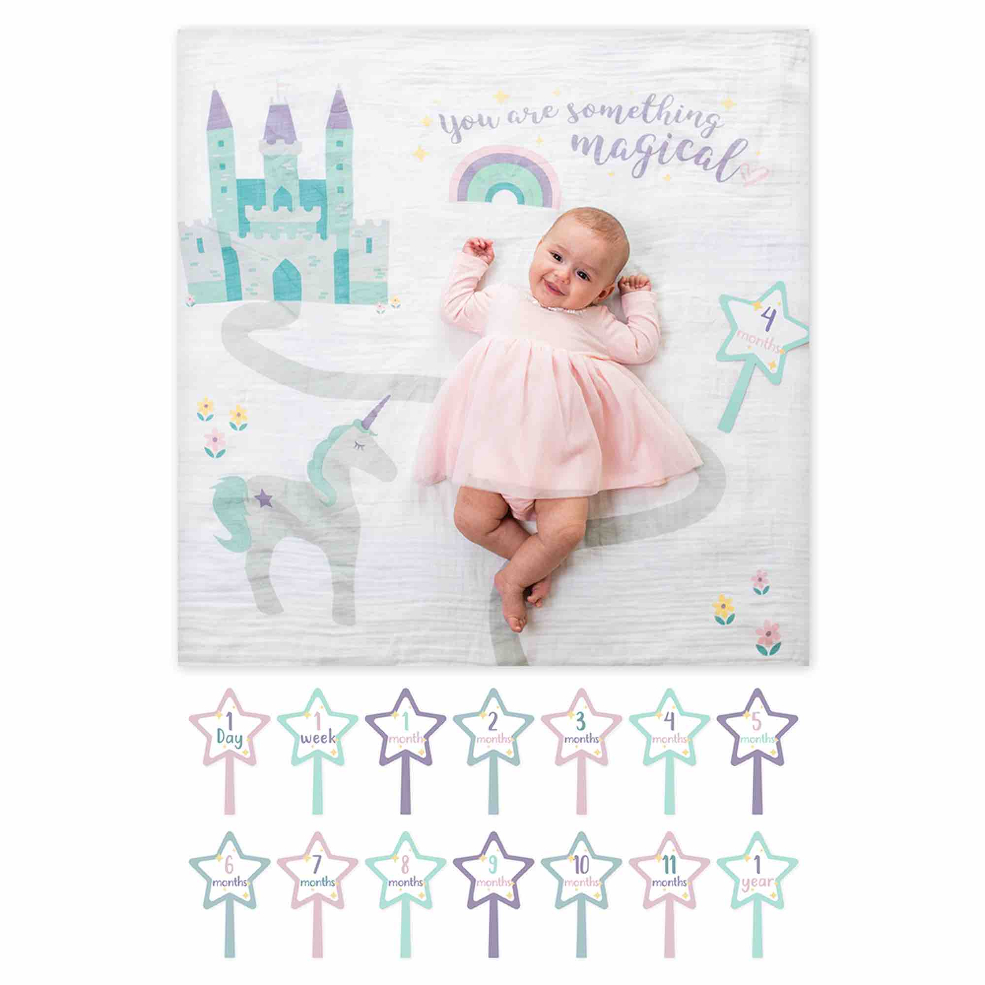 Lulujo Baby's 1st Year Blanket & Cards | Something Magical