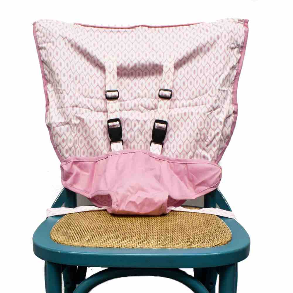 Mint Marshmallow Travel High Chair Seat | Pearl Pink