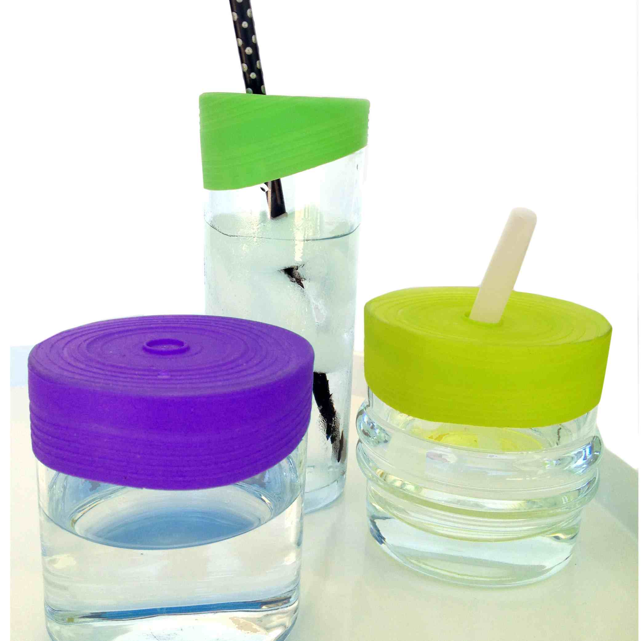 Silikids Siliskin Reusable Silicone Straw Tops - 3 Pack