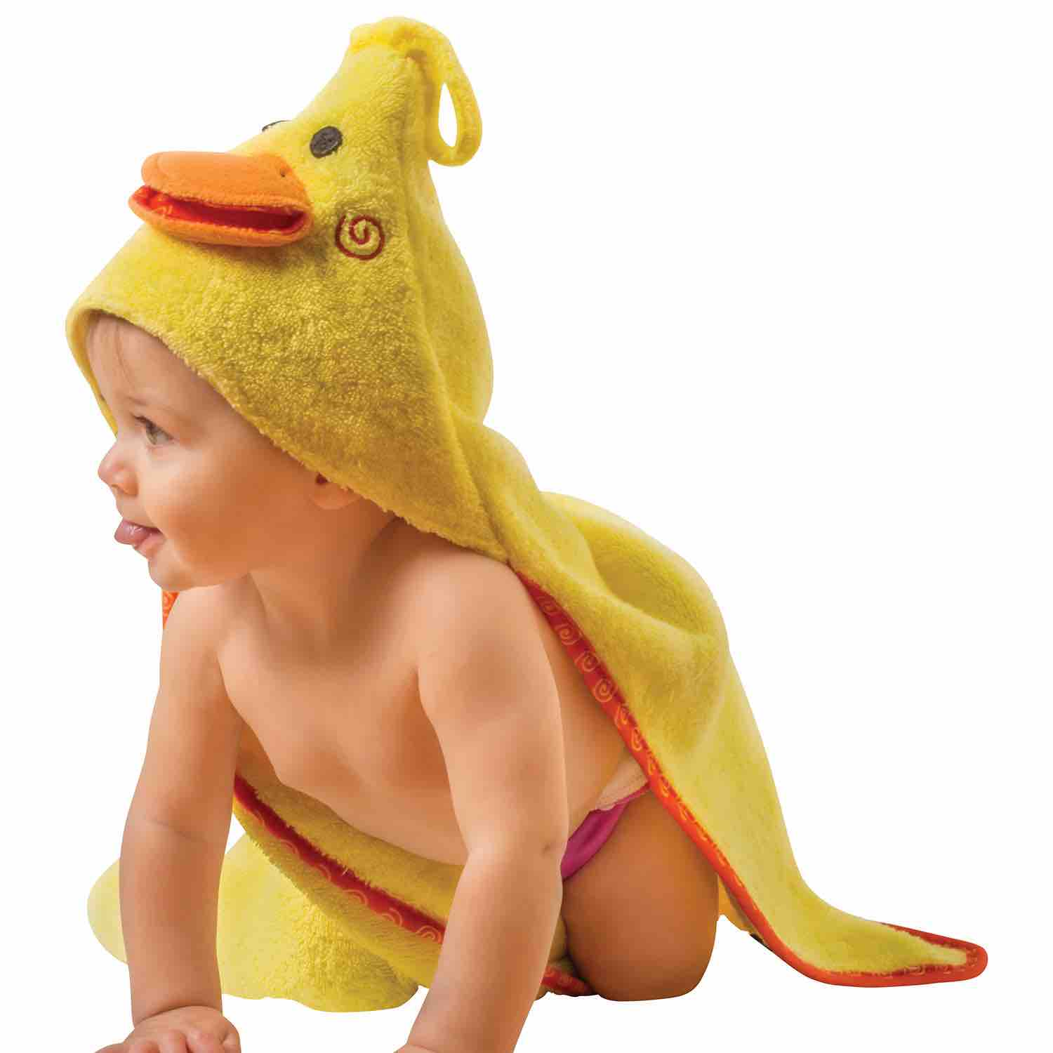 Hooded Baby Bath Towel | Puddles the Duck