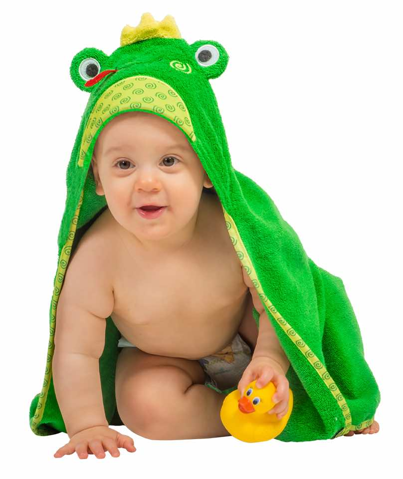 Hooded Baby Bath Towel | Flippy the Frog