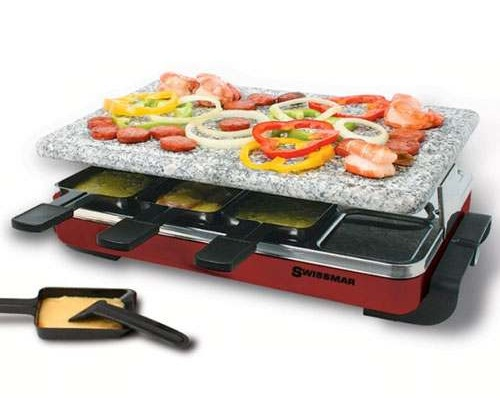 Swissmar Red Classic Raclette with Granite Stone