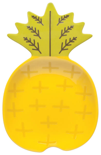 Ceramic Spoon Rest | Pineapple