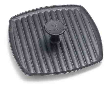 Le Creuset Square Skillet Grill Fitting Panini Press