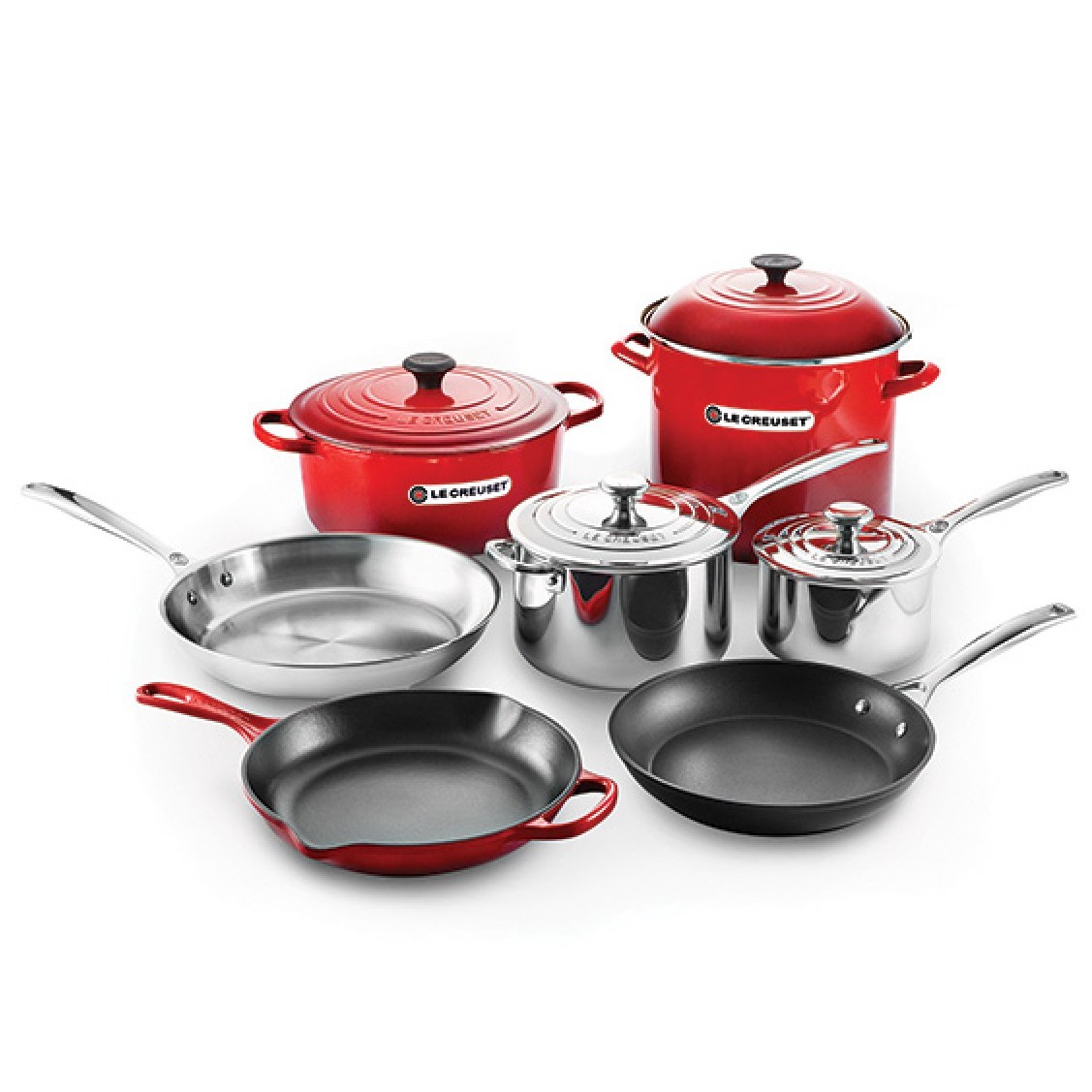 Le Creuset 11pc Ultimate Cookware Set | Cerise