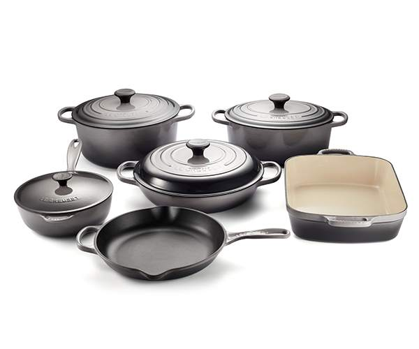 Le Creuset 10pc Cast Iron Set | Oyster