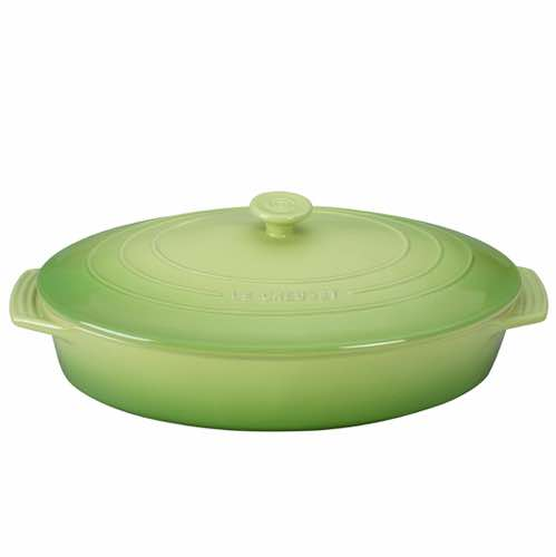 Le Creuset Oval Casserole with Lid 3.5L Palm