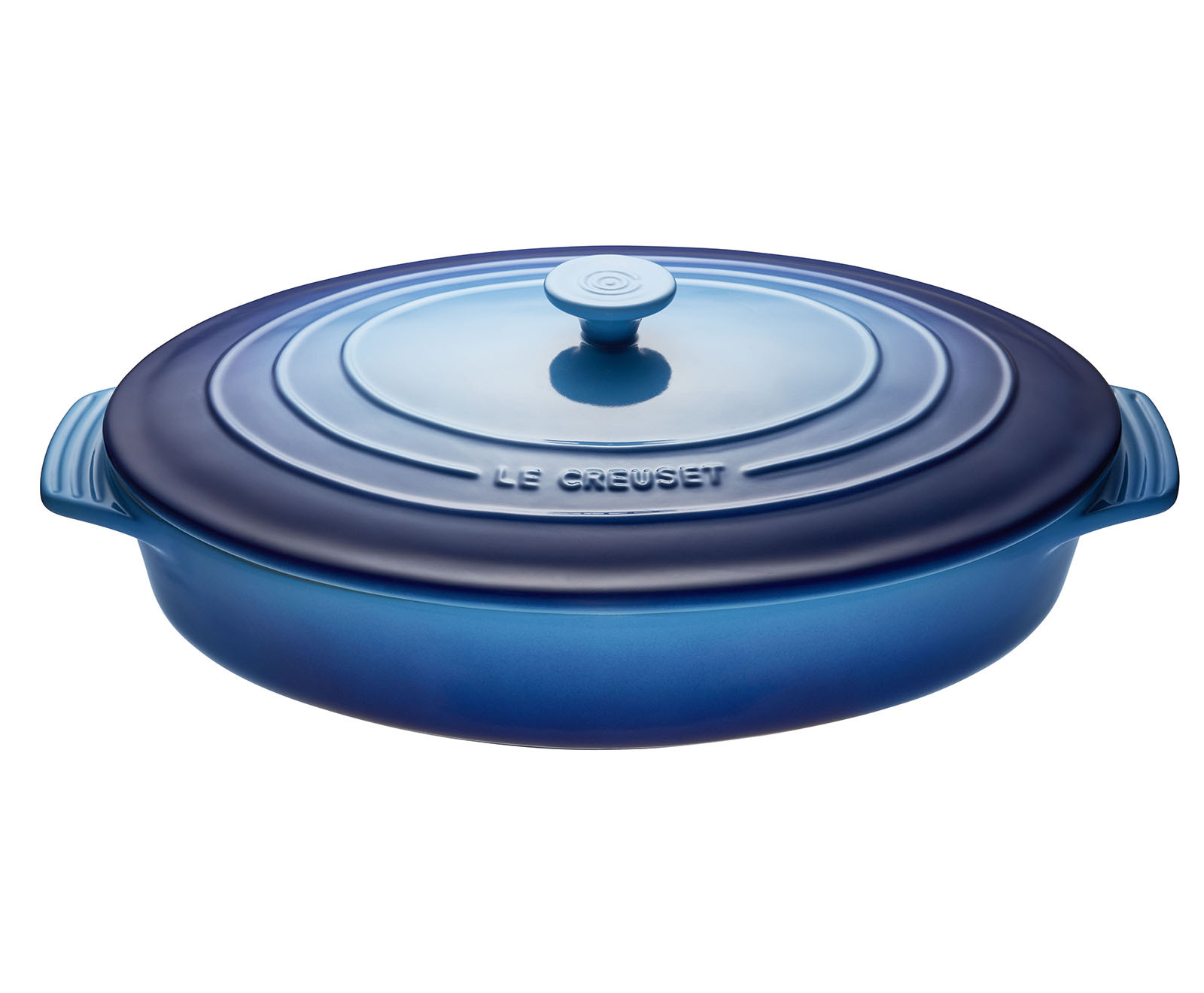 Le Creuset Oval Casserole with Lid 3.5L | Blueberry