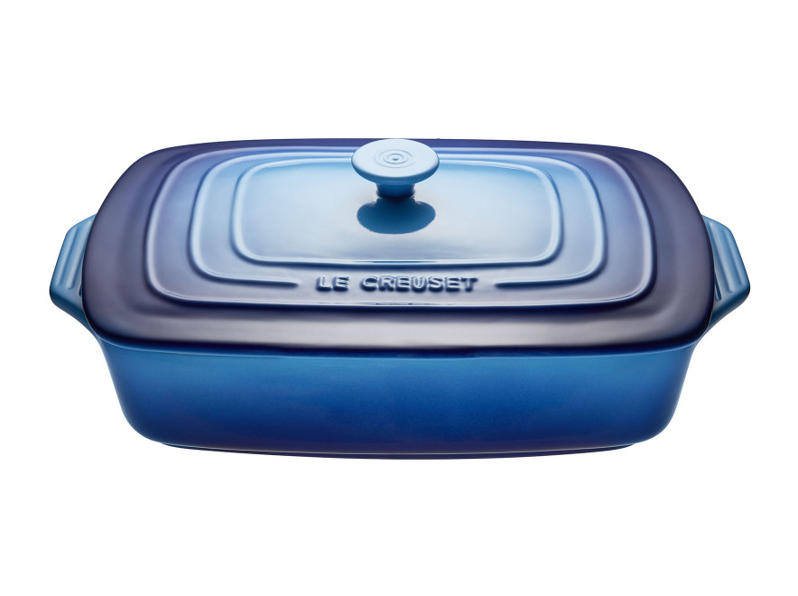Le Creuset Rectangular Casserole with Lid 3.3L | Blueberry