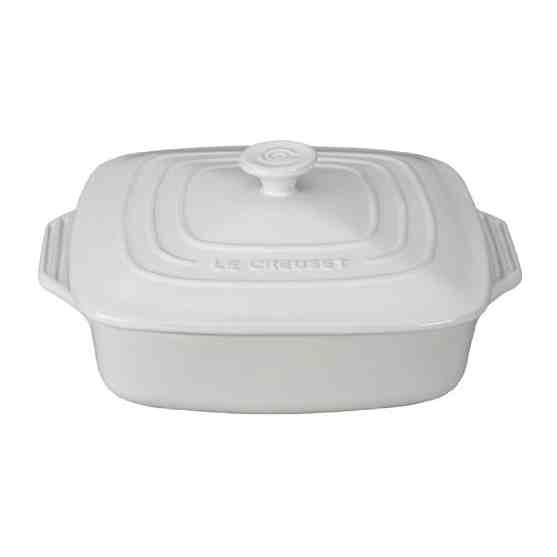 Le Creuset Covered Square Baker 24cm | 2.6L White