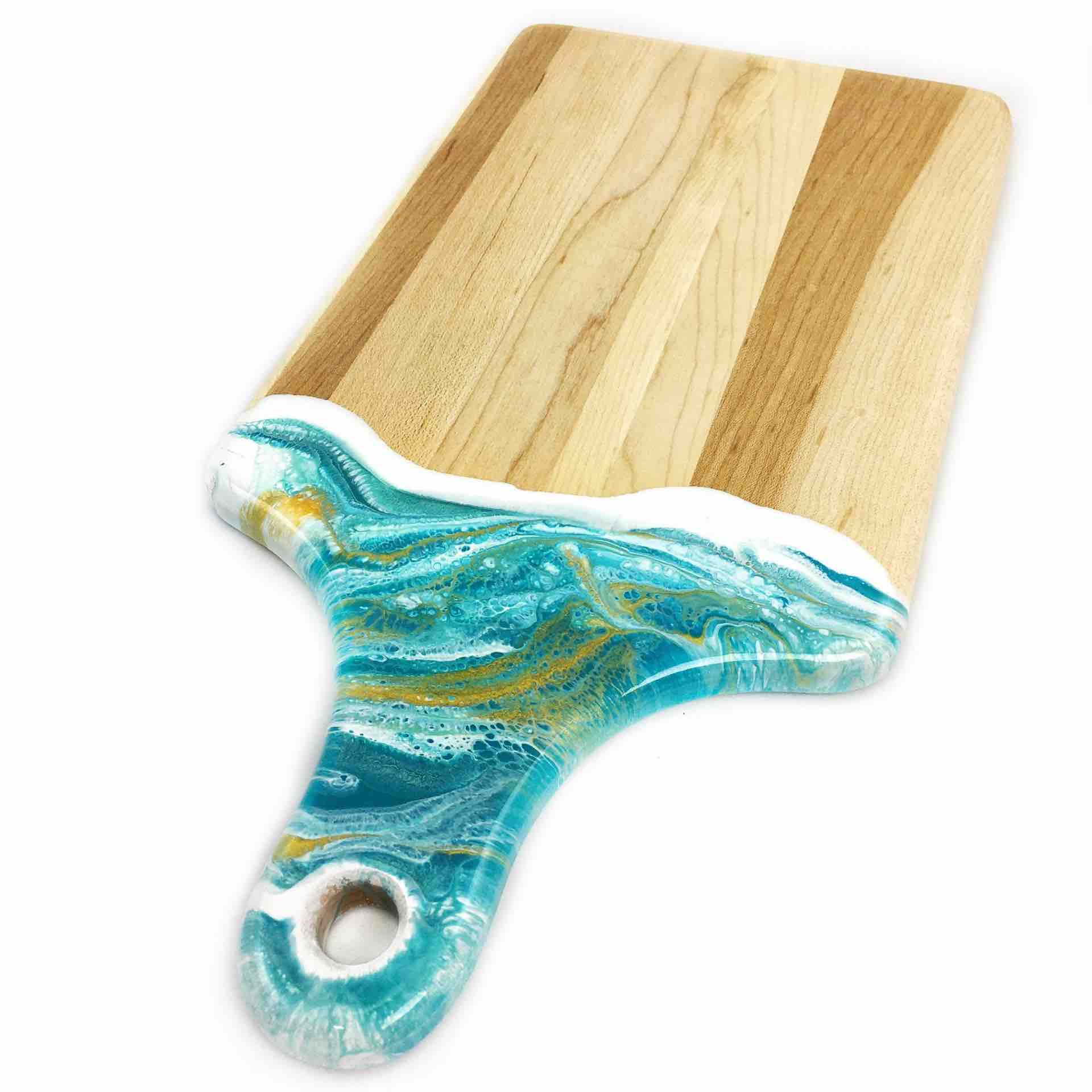 Lynn & Liana Cheeseboard with Dipped Handle | 7x14"