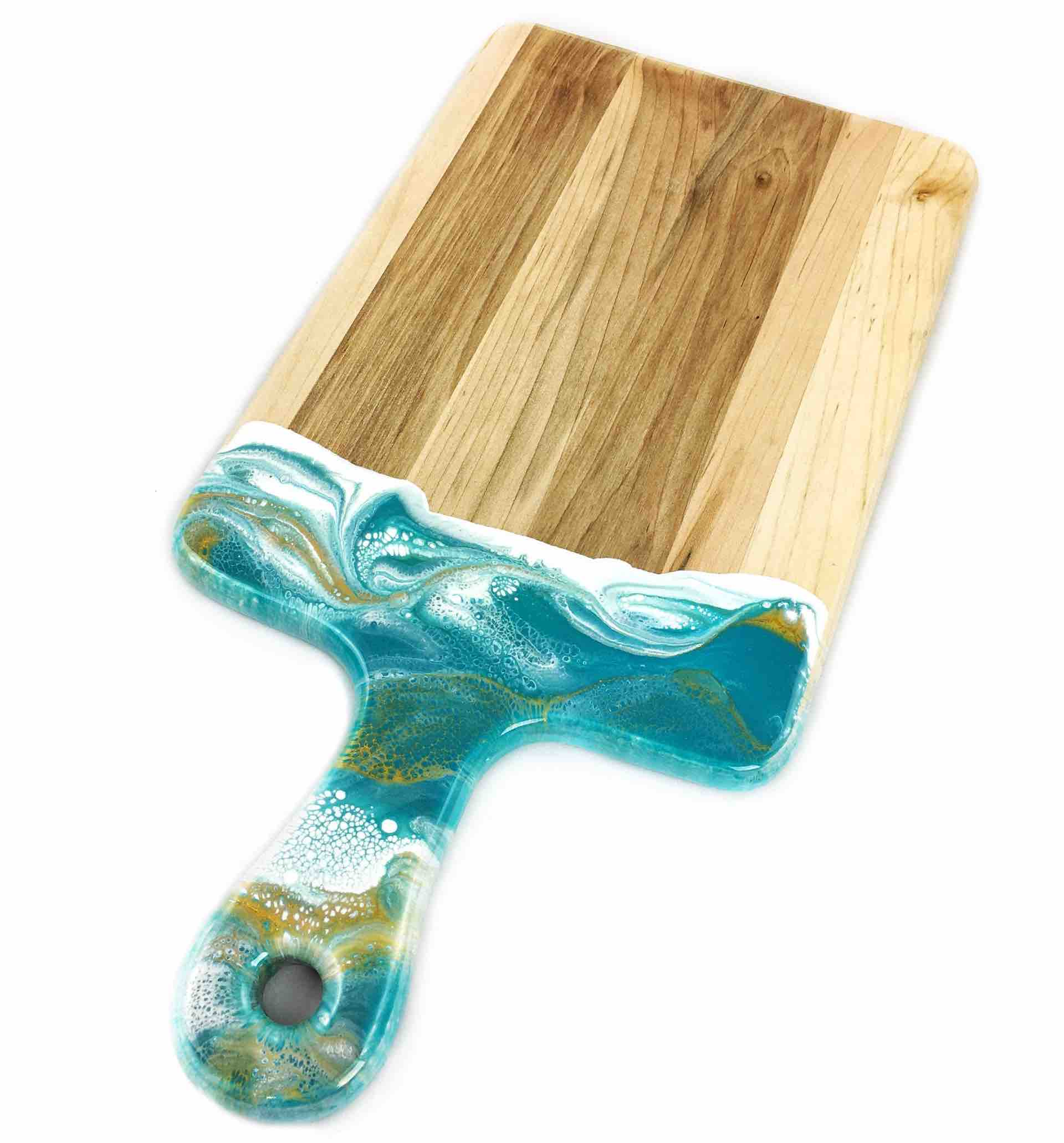 Lynn & Liana Cheeseboard with Dipped Handle | 8x16"
