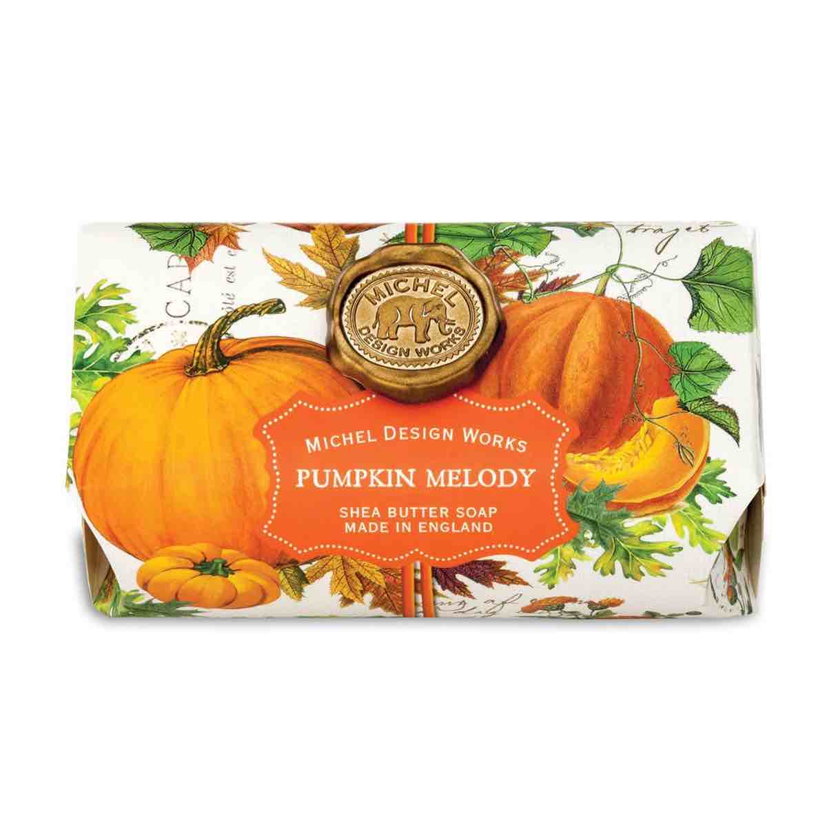 Michel Design Works Large Bath Soap Bar | Pumpkin Melody