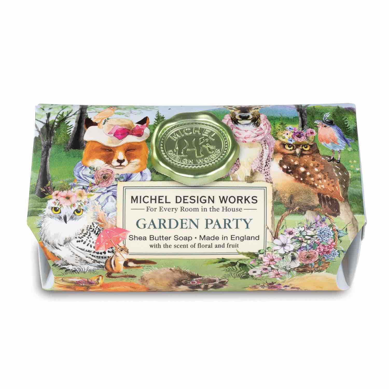 Michel Design Works Large Bath Soap Bar | Garden Party
