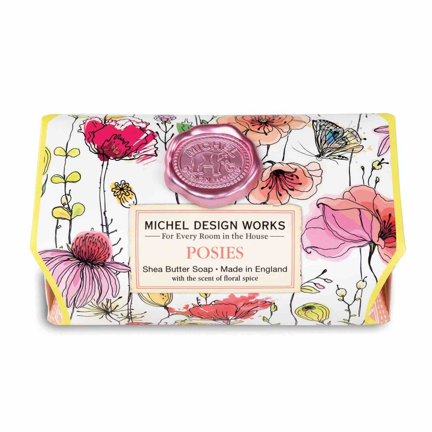 Michel Design Works Large Bath Soap Bar | Posies