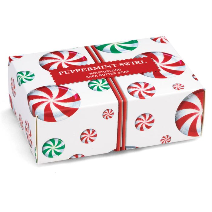 Michel Design Works Boxed Soap Bar | Peppermint Swirl