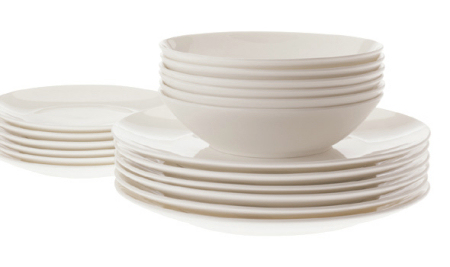 Maxwell & Williams Cashmere Coupe 18pc Bone China Dining Set