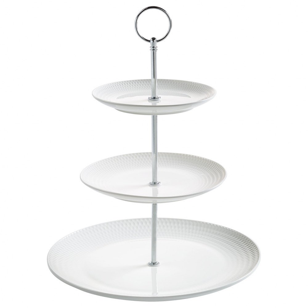 Maxwell & Williams Diamonds 3 Tier Sweet Stand | Cake Stand