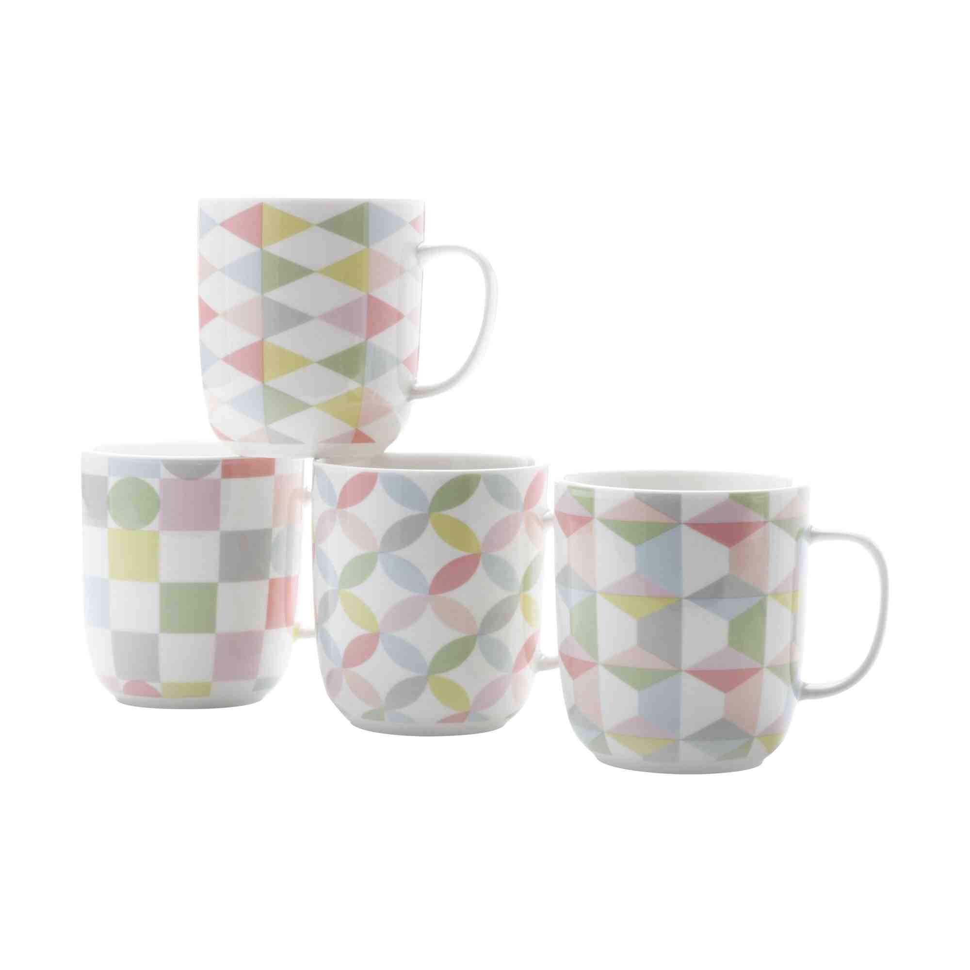 Maxwell & Williams Geoclectic Mug Set of 4