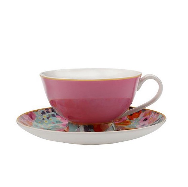 Maxwell & Williams Bloems Cup & Saucer | Pink