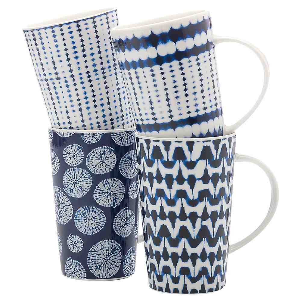 Maxwell & Williams Shibori Mug Set of 4