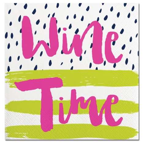 Cocktail Napkins | Wine Time 20pk