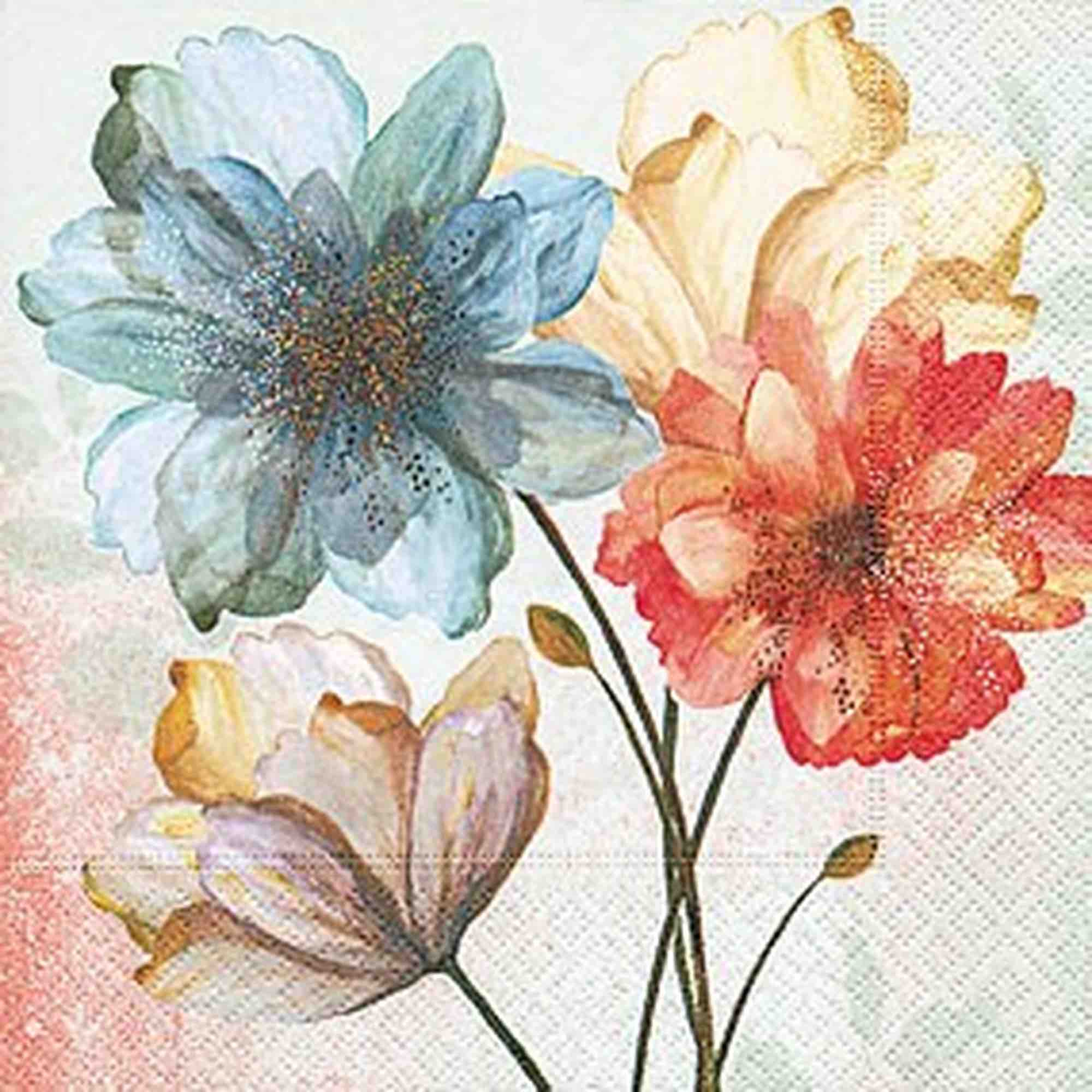 Cocktail Napkins | Portrait of Flowers 20pk