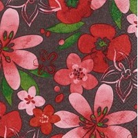 Cocktail Napkins | Marsala Flowers 20pk