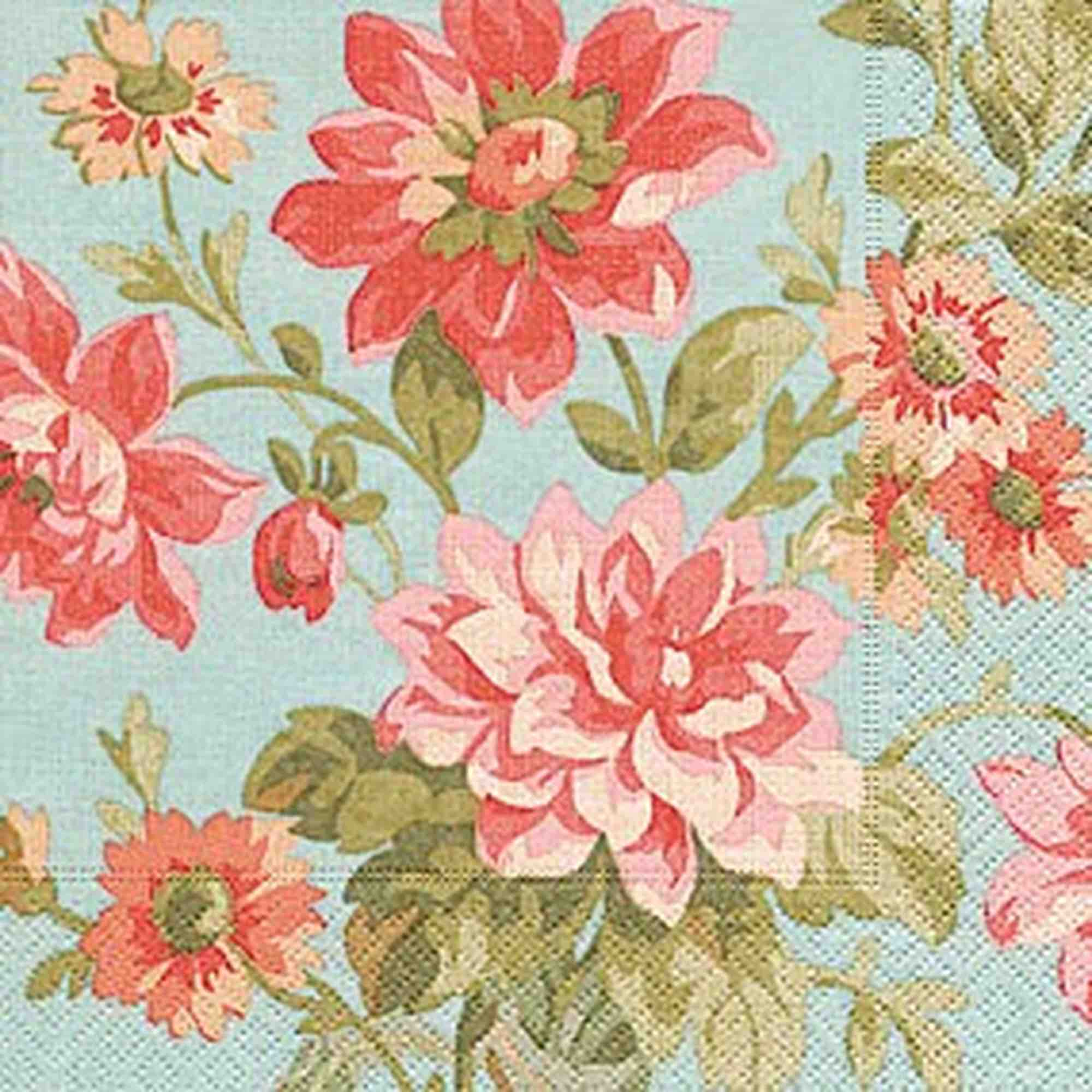 Cocktail Napkins | Painted Dahlias 20pk