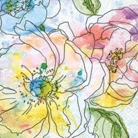 Cocktail Napkins | Watercolour Bloom 20pk