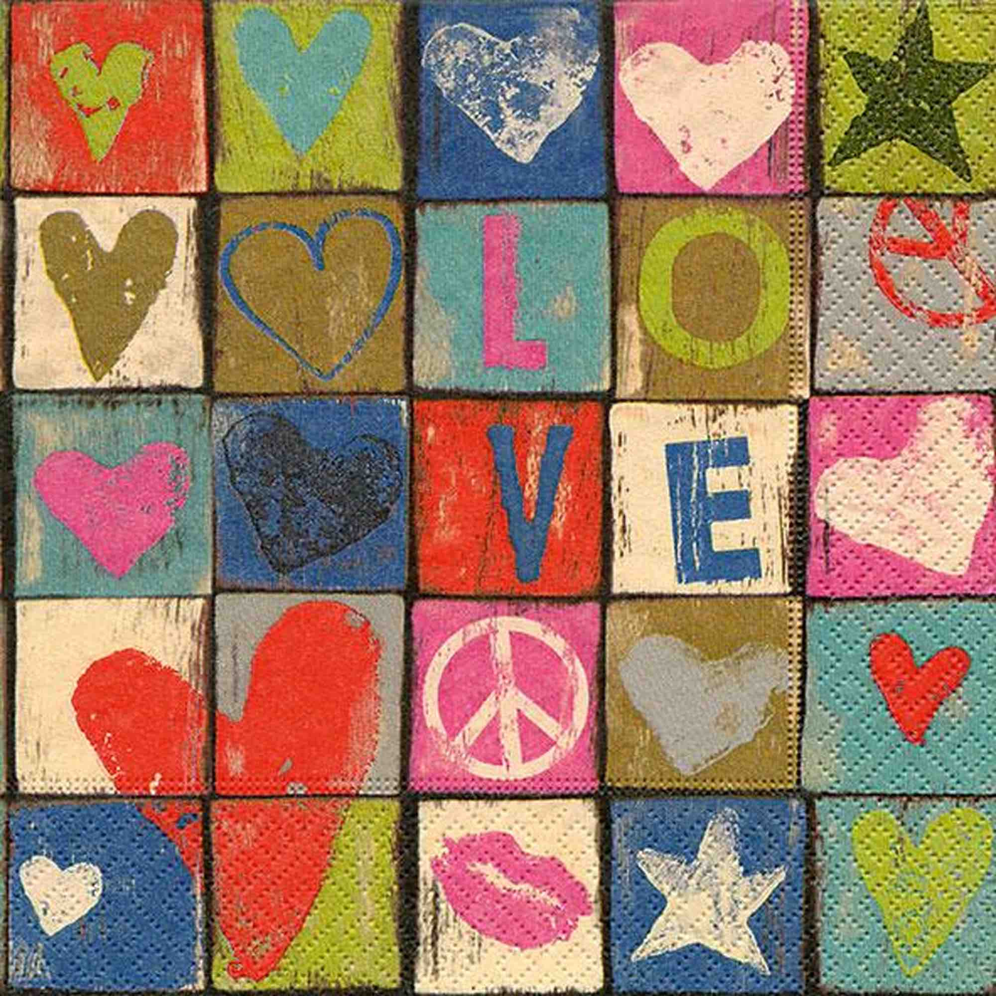 Luncheon Napkins | Love & Peace 20pk