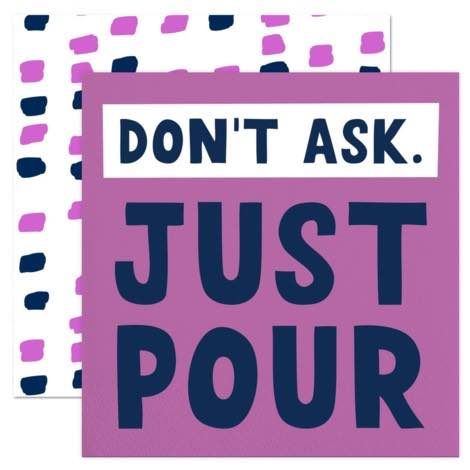 Cocktail Napkins | Just Pour 20pk