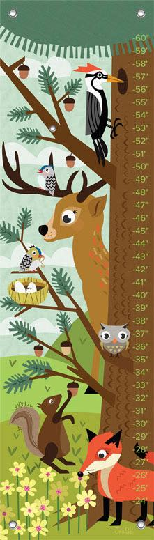 Growth Chart | Woodland Creatures by Jenn Ski