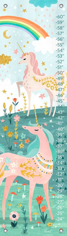 Growth Chart | Magical Unicorn by Irene Chan