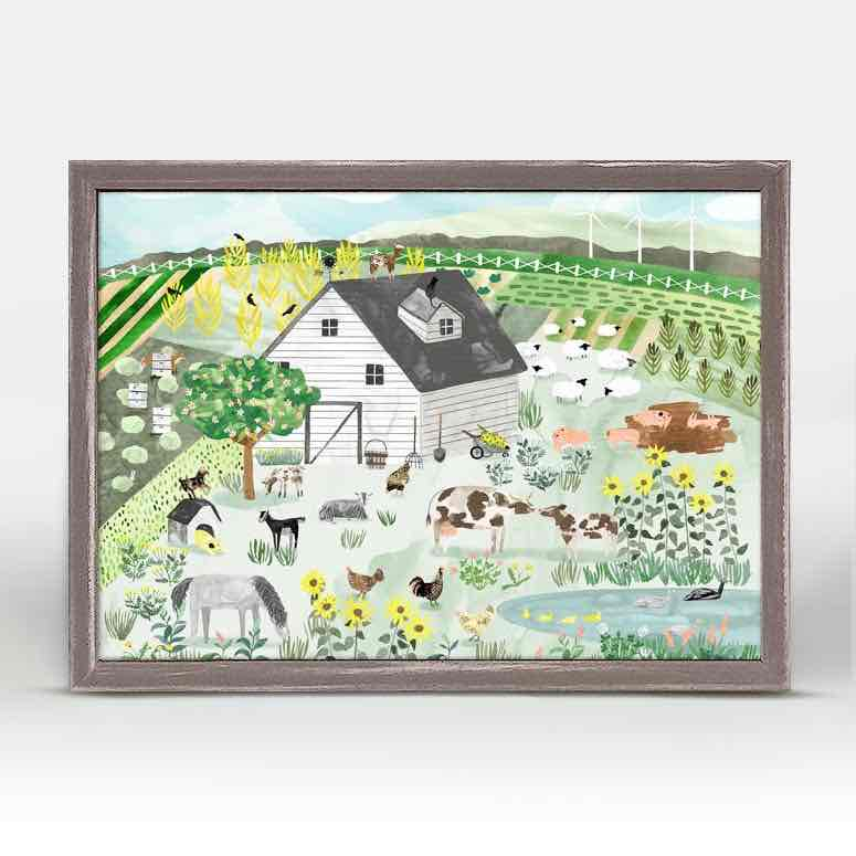 Framed Canvas | Farm Life by Katie Vernon