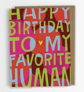 Birthday Card - Favorite Human disc