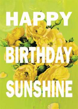Birthday Card - Bright Sunshine