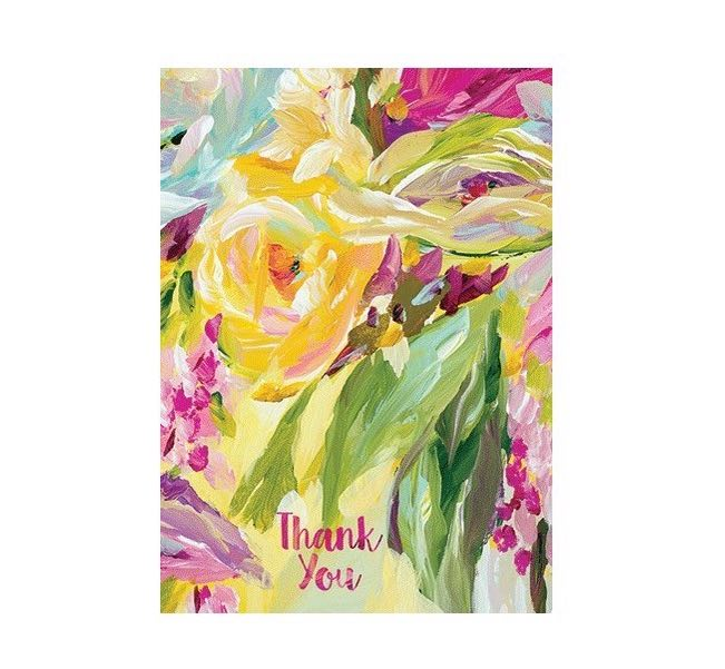 Thank You Card | Yellow Floral