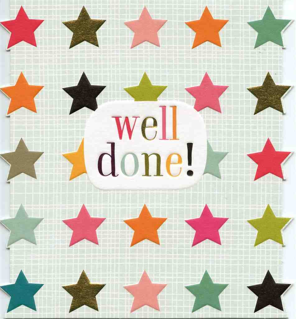 Congrats Card - Well Done disc