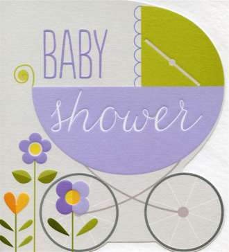 Baby Card - Shower Carriage