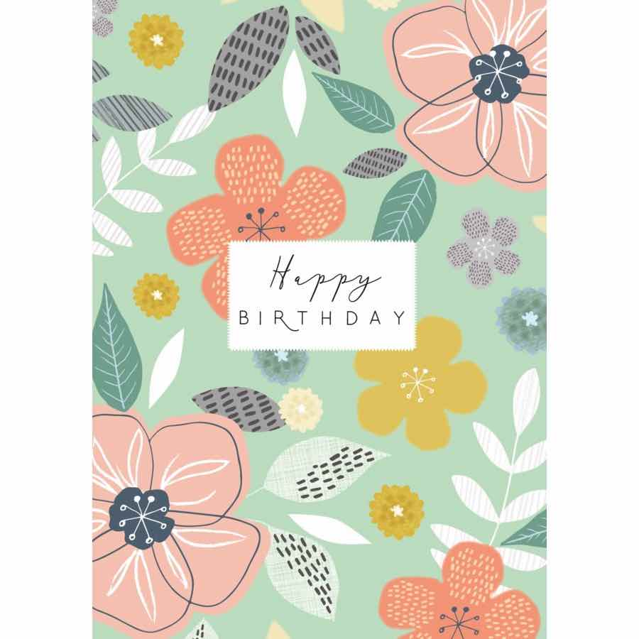 Happy Birthday | Green Floral