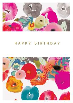 Birthday Card | Abstract Flowers disc